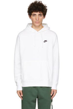 Nike White Fleece Sportswear Club Hoodie