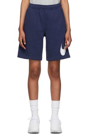 Nike Women Sports Shorts - Navy Fleece Sportswear Club Shorts