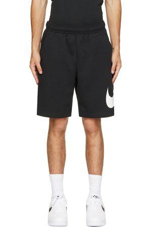 Nike Black & White Fleece Sportswear Club Shorts