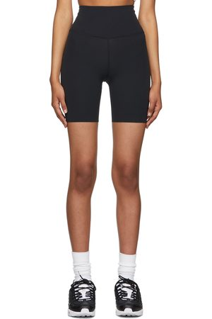 Nike Women Sports Shorts - Black Infinalon Yoga Luxe Shorts