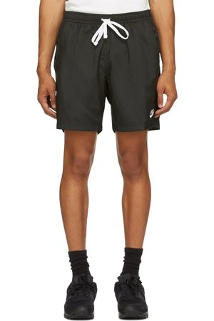 Nike Men Sports Shorts - Black Woven Sportswear Shorts
