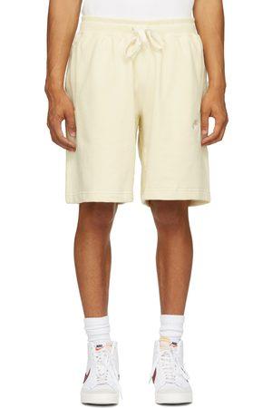 Nike Men Sports Shorts - Yellow Fleece Sportswear Classic Shorts