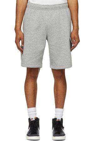 Nike Grey Fleece Sportswear Club Cargo Shorts