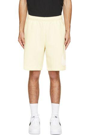 Nike Yellow & White Fleece Sportswear Club Shorts