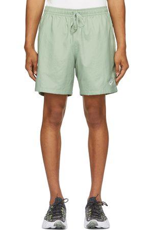 Nike Men Sports Shorts - Green Woven Sportswear Shorts