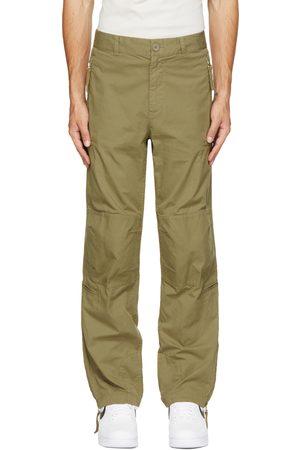 Helmut Lang Green Zip Cargo Pants