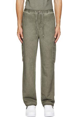 Helmut Lang Men Cargo Pants - Khaki French Terry Cargo Pants