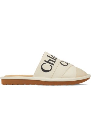 Chloé Off-White Woody Slippers