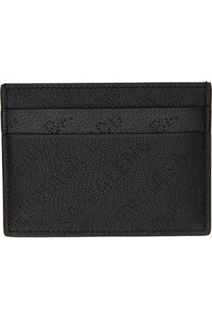 Balenciaga Black Cash Perforated Logo Card Holder