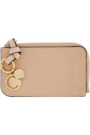 Chloé Pink Alphabet Zip Around Card Holder