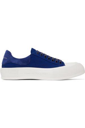Alexander McQueen Navy Deck Lace-Up Plimsoll Sneakers