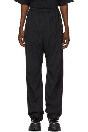 Balenciaga Black Nylon Tailored Trousers
