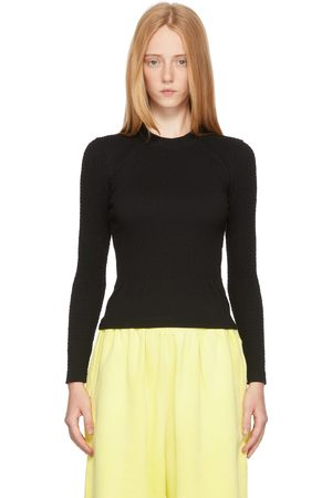 Balenciaga Black Smocking Long Sleeve T-Shirt