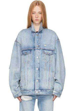 Balenciaga Blue Denim Large Fit Jacket