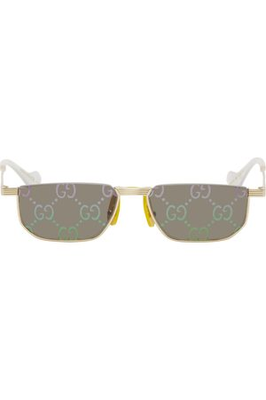 Gucci Men Sunglasses - Gold Fashion Show '60s Rectangular Sunglasses