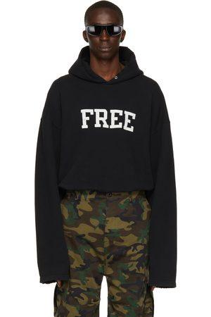 Balenciaga Black 'Free' No Rib Hoodie
