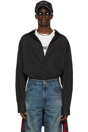 Balenciaga Black Poplin Large Fit Shirt