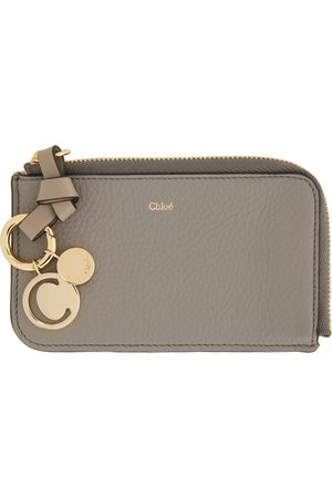 Chloé Grey Alphabet Zip Around Card Holder