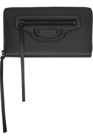 Balenciaga Black Neo Classic Continental Wallet