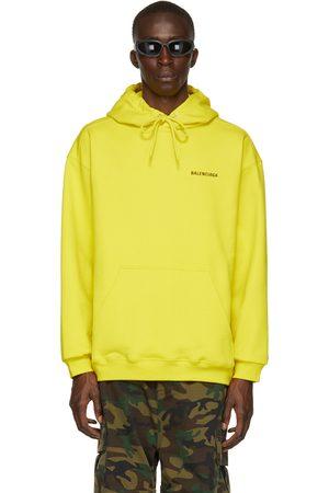 Balenciaga Yellow Medium Fit Logo Hoodie