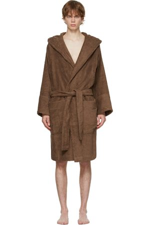 Tekla Brown Hooded Bathrobe