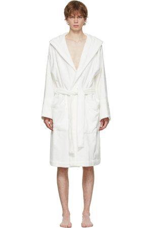 Tekla White Hooded Bathrobe