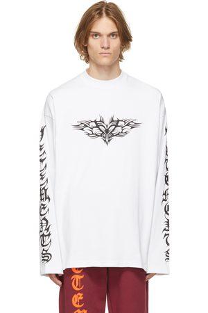 VETEMENTS White Gothic Logo Long Sleeve T-Shirt