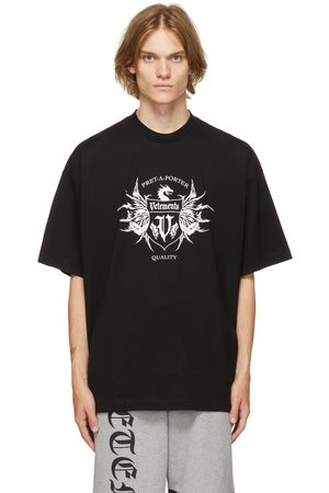 VETEMENTS Black & White Label Logo T-Shirt