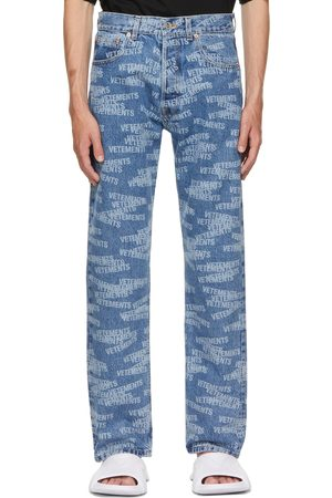 Vetements Blue Logo Straight Jeans