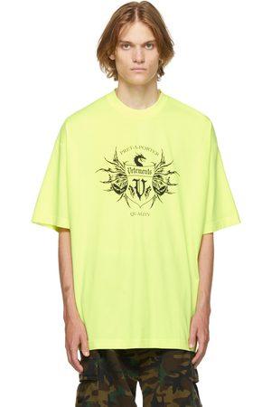 VETEMENTS Yellow & Black Label Logo T-Shirt