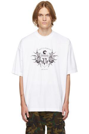 VETEMENTS Men T-shirts - White & Black Label Logo T-Shirt