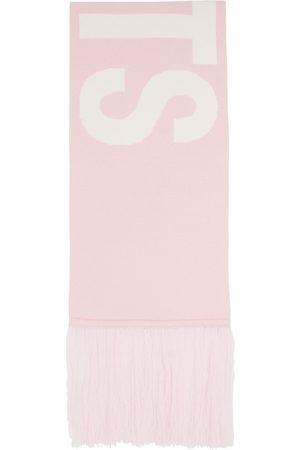 Vetements Pink Intarsia Logo Scarf