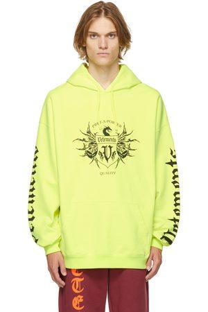 VETEMENTS Yellow Label Logo Hoodie