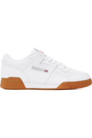 Reebok Men Sports Equipment - White Leather Workout Plus Sneakers