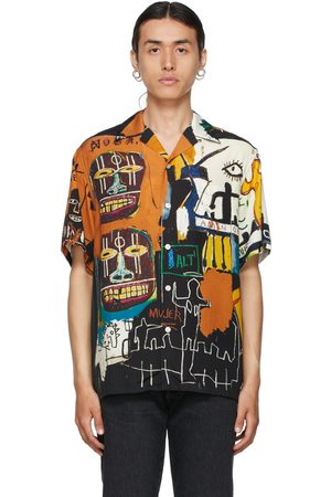 WACKO MARIA Multicolor Jean-Michel Basquiat Edition 'Guilty Parties' Short Sleeve Shirt