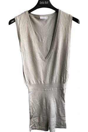 La Perla Grey Silk Jumpsuits