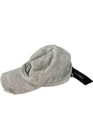 Dolce & Gabbana Grey Cotton Hats & Pull ON Hats
