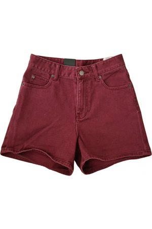 Dr Denim Burgundy Denim - Jeans Shorts