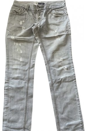 Dolce & Gabbana Grey Cotton Jeans