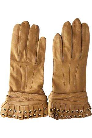 3.1 Phillip Lim Camel Leather Gloves