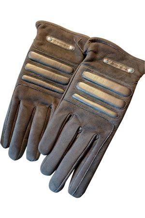 Piquadro Leather Gloves