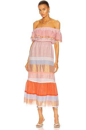 Lemlem Marjani Beach Dress in Peach