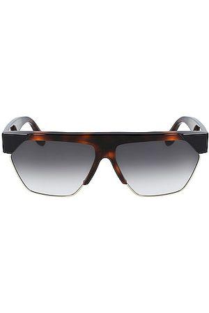 Victoria Beckham Faceted Rectangular Sunglasses in