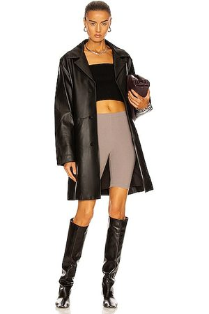 DION LEE Leather Longline Coat in