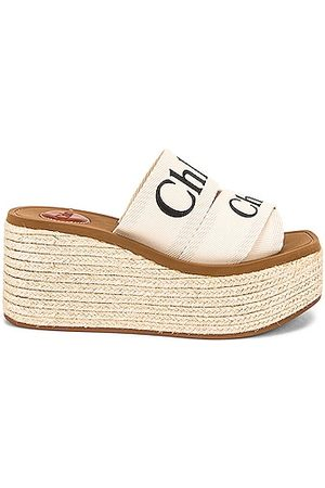 Chloé Woody Canvas Espadrille Mules in