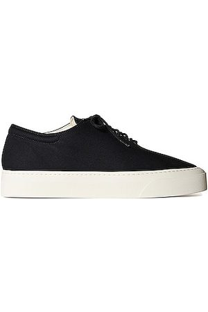 The Row Marie H Lace Up Canvas Sneakers in