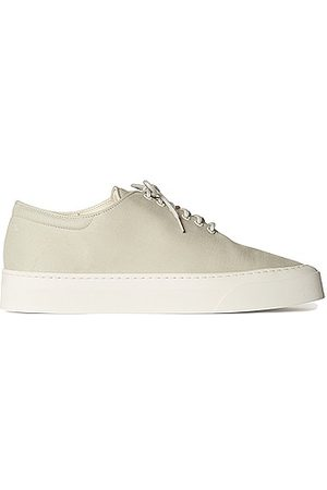 The Row Marie H Lace Up Canvas Sneakers in Grey
