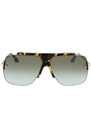 Victoria Beckham Combination Rimless Square Sunglasses in