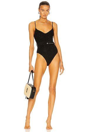 JONATHAN SIMKHAI Noa Belted Bustier Swimsuit in