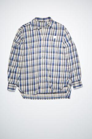 Acne Studios FA-UX-SHIR000022 /blue Flannel shirt